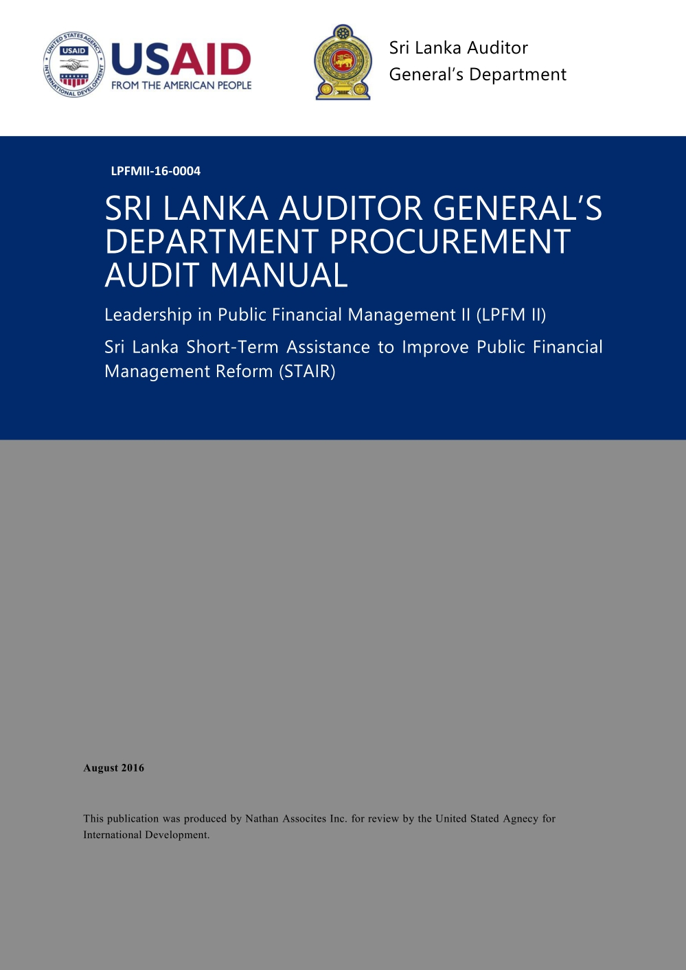 Procurement Audit Manual 1 1